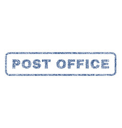 Post office textile stamp vector