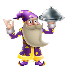 Wizard chef or cook vector