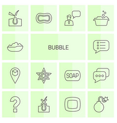 14 bubble icons vector