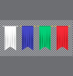 3d model a realistic empty pennant color vector image