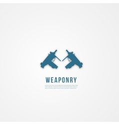 Abstact weapon template Flat icon vector image