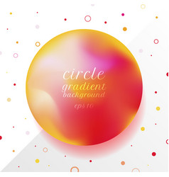 abstract 3d red and yellow gradient circle shape vector image
