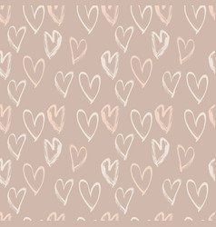 Abstract seamless heart pattern ink vector