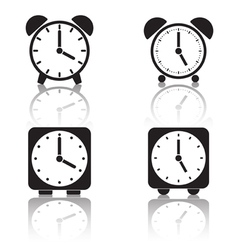 Alarm clocks collection vector image