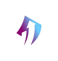arrow asbtract company logo vector image