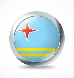 Aruba flag button vector