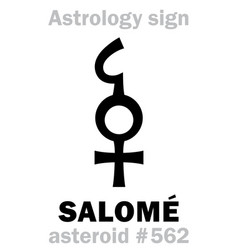 Astrology asteroid salome vector