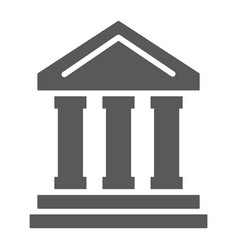 bank building glyph icon finance and banking vector image