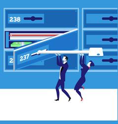 Bank deposit box concept in vector