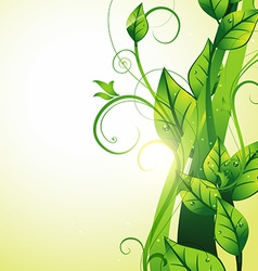 Beautiful growing leaf vector