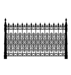 Black metal fence vector
