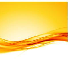Bright orange swoosh wave border background vector