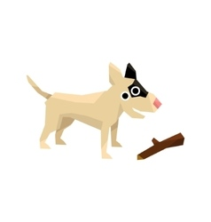 Bull Terrier And A Stick vector