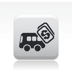 Bus price icon vector