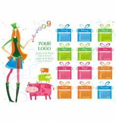 Calendar girl vector image