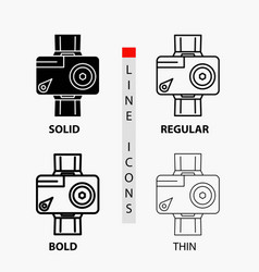 camera action digital video photo icon in thin vector image