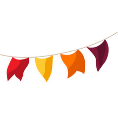 cartoon garland flags vector image