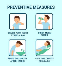Cavity disease preventive measures info poster vector