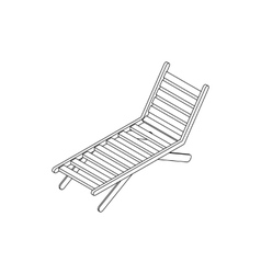 Chaise lounge icon isometric 3d style vector