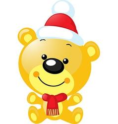 christmas character - cute bear vector image