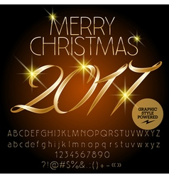 Classic Merry Christmas 2017 greeting card vector