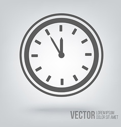 Clock icon isolated black on white background vector image