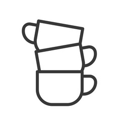 Coffee cup coffee related line style editable vector