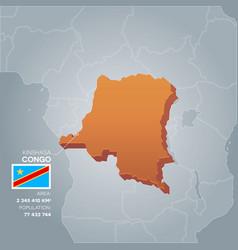 congo information map vector image