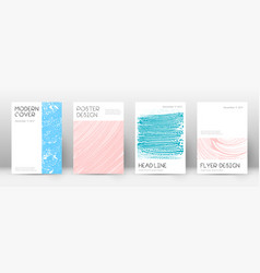 cover page design template minimal brochure layou vector image