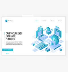 cryptocurrency marketplace for exchange bitcoin vector image