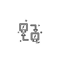 data sharing icon design vector image