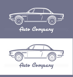 Design concept with classic style car vector