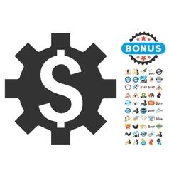 Dollar Options Icon With 2017 Year Bonus vector