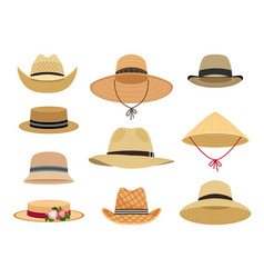 Farmers gardening hats vector