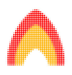 Fire flame halftone dotted icon vector