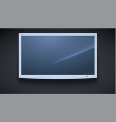flat smart tv icon led tv hanging isolated on vector image