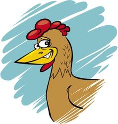 funny farm hen vector image