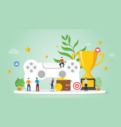 gamification life concept with goals reward and vector image