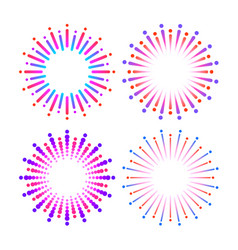 graphic fireworks vector image