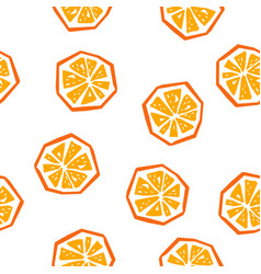 half orange seamless pattern vector image