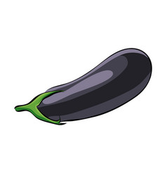 Hand drawn aubergine icon vector