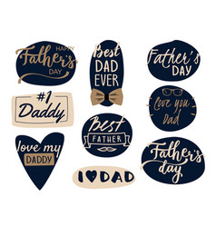 happy father s day design collection - set of vector image