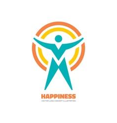 Human logo concept vector image