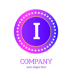 i letter logo design i icon colorful and modern vector image