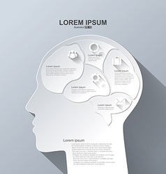 Infographics Brain Abstract background vector
