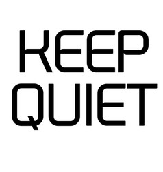 Keep quiet stamp on white vector
