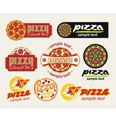log pizza vector image