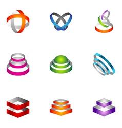 Logo design elements set 66 vector