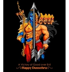 Lord Rama and Ravana in Dussehra Navratri festival vector