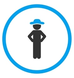 Man Akimbo Rounded Icon vector image